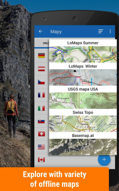 Locus Map Free - Hiking GPS navigation and maps screenshot 1