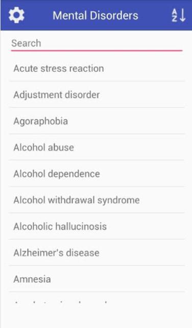 All Mental disorders screenshot 3