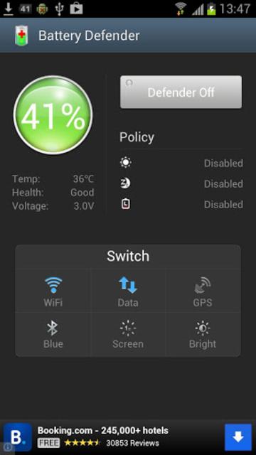Battery Defender - 1 Tap Saver screenshot 1