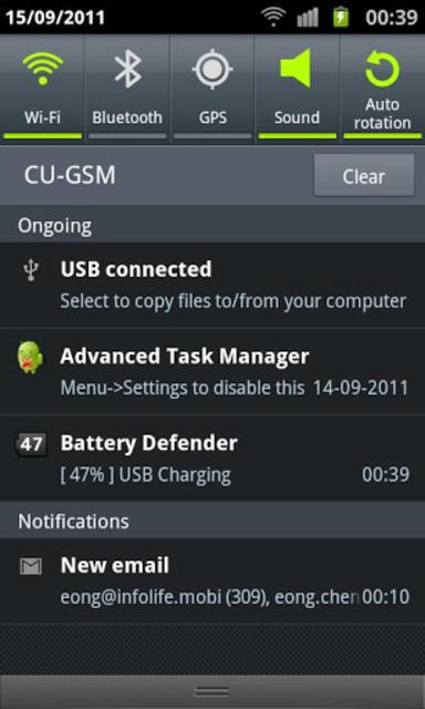 Battery Defender - 1 Tap Saver screenshot 2