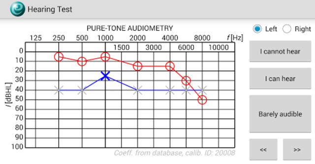 Hearing Test screenshot 1