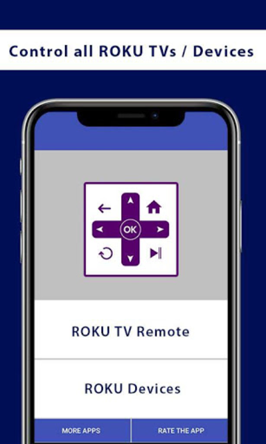 Remote For ROKU TVs and Devices screenshot 1