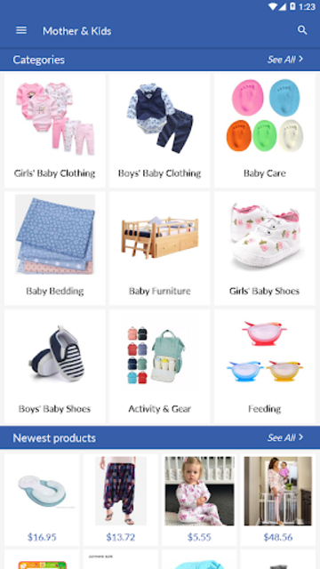 Cheap baby and kids clothes online store screenshot 1