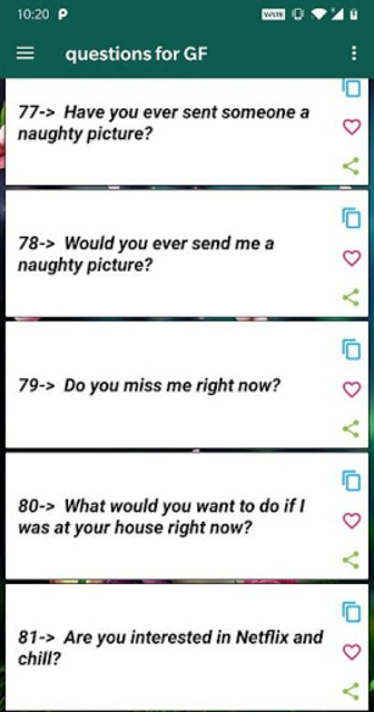 Romantic Questions to ask your love screenshot 2