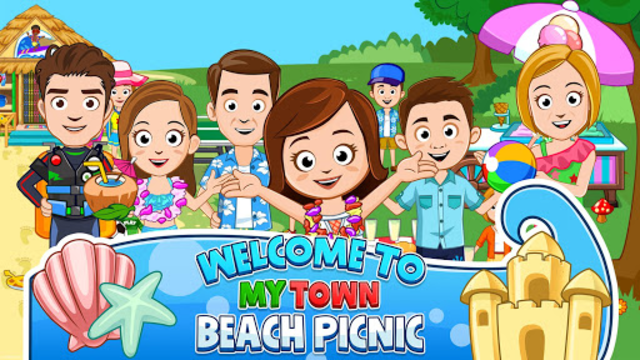My Town : Beach Picnic screenshot 2