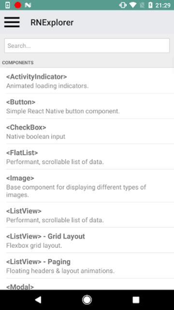 React Native Explorer with code screenshot 3