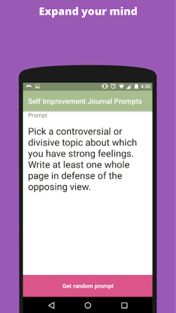 Self Improvement Writing Prompts screenshot 3