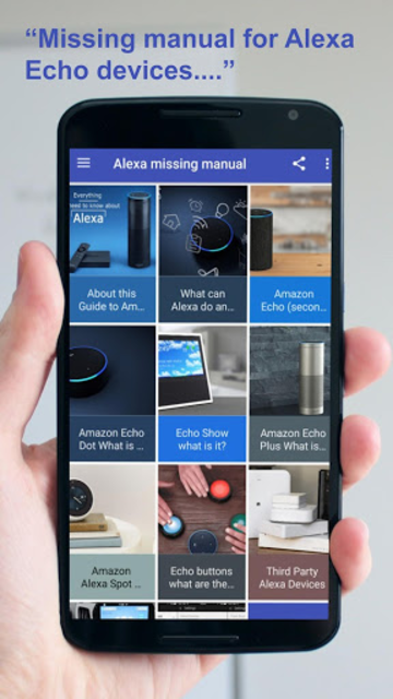 User Guide to echo and Alexa Devices screenshot 1