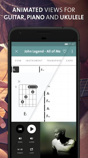 Chordify: Guitar, ukulele and piano chords screenshot 2