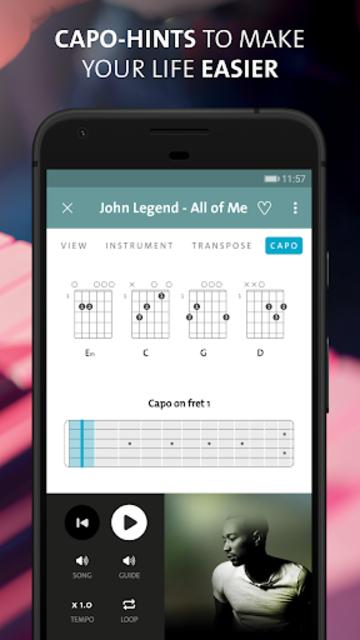 Chordify: Guitar, ukulele and piano chords screenshot 4