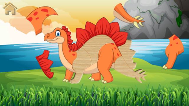 Funny Dinosaurs Kids Puzzles, full game. screenshot 2