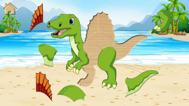 Funny Dinosaurs Kids Puzzles, full game. screenshot 5