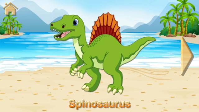 Funny Dinosaurs Kids Puzzles, full game. screenshot 10