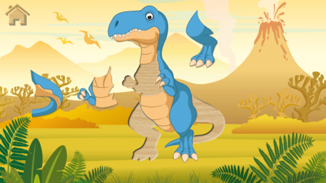 Funny Dinosaurs Kids Puzzles, full game. screenshot 11