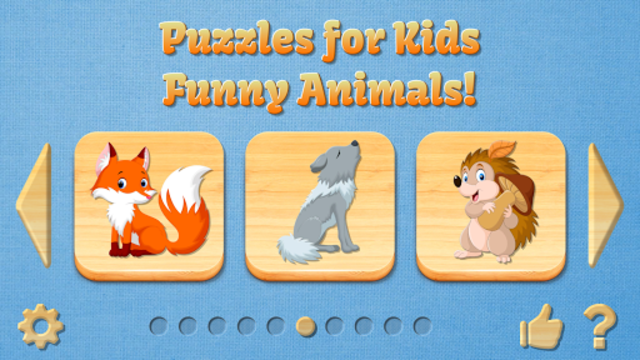 Funny Animal Puzzles for Kids, full game screenshot 1