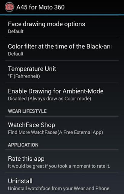 A45 WatchFace for Moto 360 screenshot 20