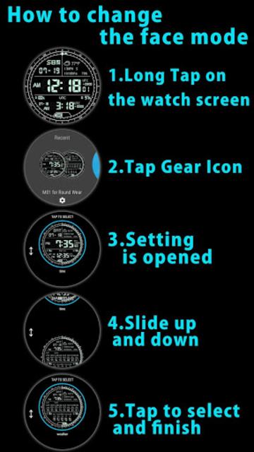 M01 Watch Face for Moto 360 screenshot 2