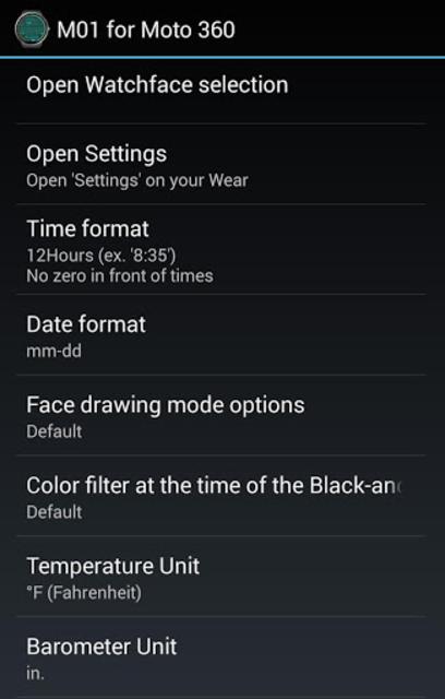M01 Watch Face for Moto 360 screenshot 21