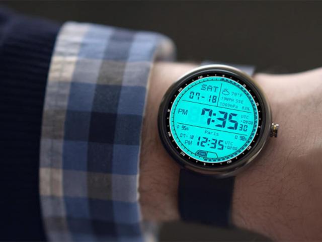 M01 Watch Face for Moto 360 screenshot 6