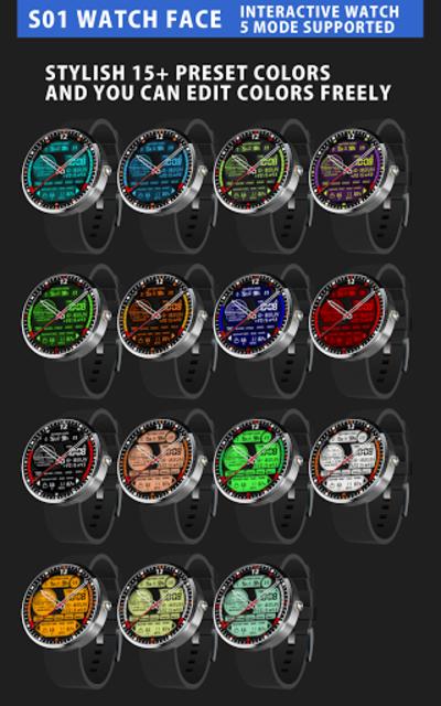 S01 WatchFace for Moto 360 screenshot 2