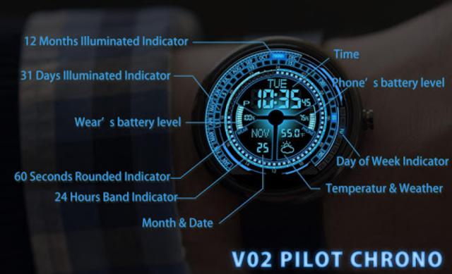 V02 WatchFace for Moto 360 screenshot 2