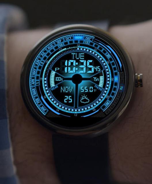 V02 WatchFace for Moto 360 screenshot 3