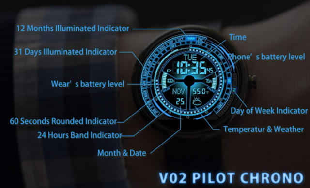 V02 WatchFace for Moto 360 screenshot 5