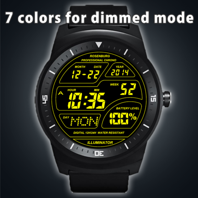 A41 WatchFace for Android Wear Smart Watch screenshot 21