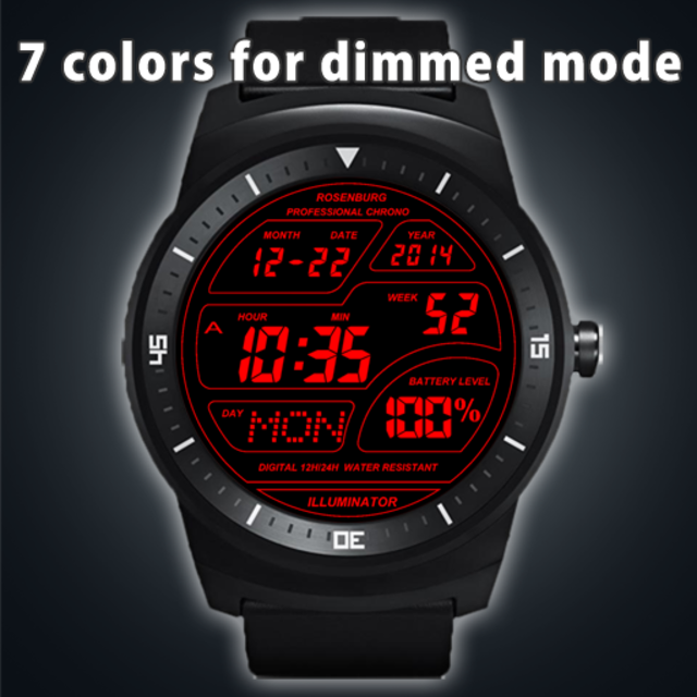 A41 WatchFace for Android Wear Smart Watch screenshot 22