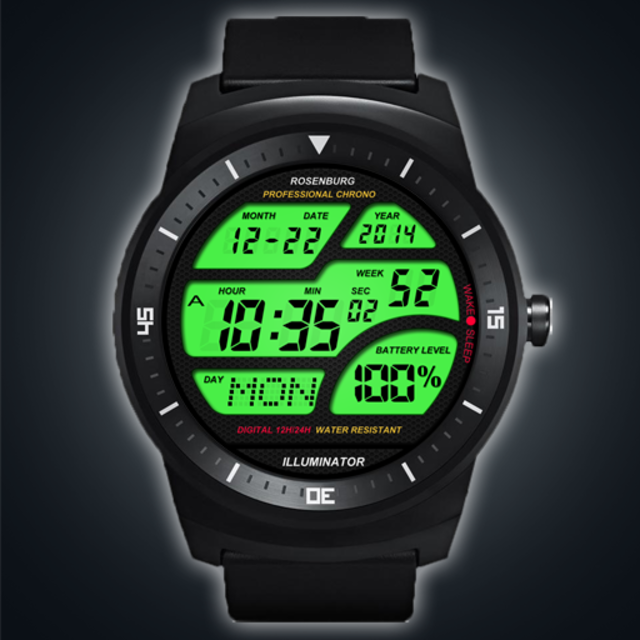 A41 WatchFace for Android Wear Smart Watch screenshot 1