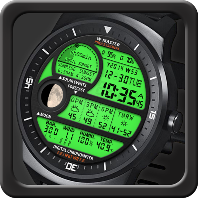F04 WatchFace for Android Wear Smart Watch screenshot 25
