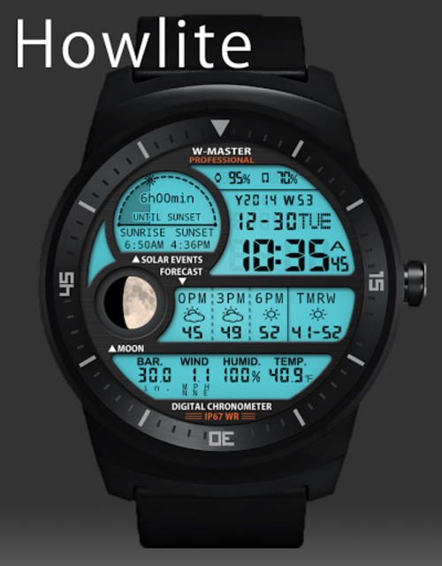 F04 WatchFace for Android Wear Smart Watch screenshot 28