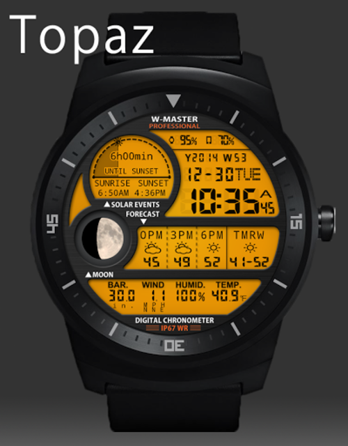F04 WatchFace for Android Wear Smart Watch screenshot 29