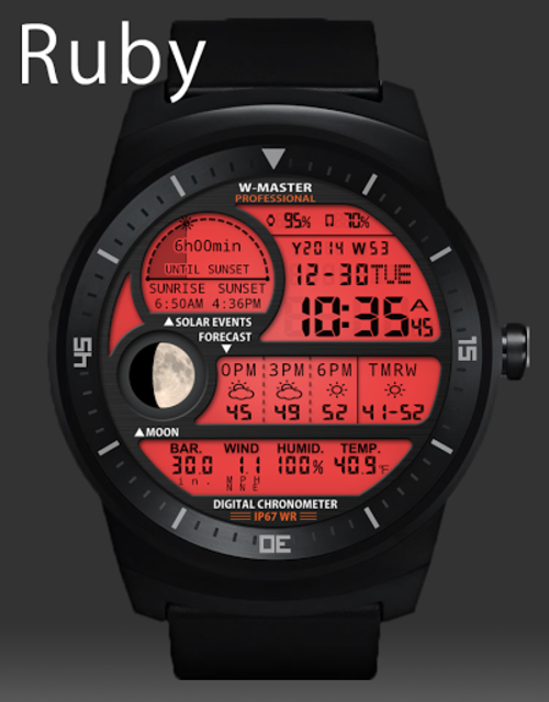F04 WatchFace for Android Wear Smart Watch screenshot 30