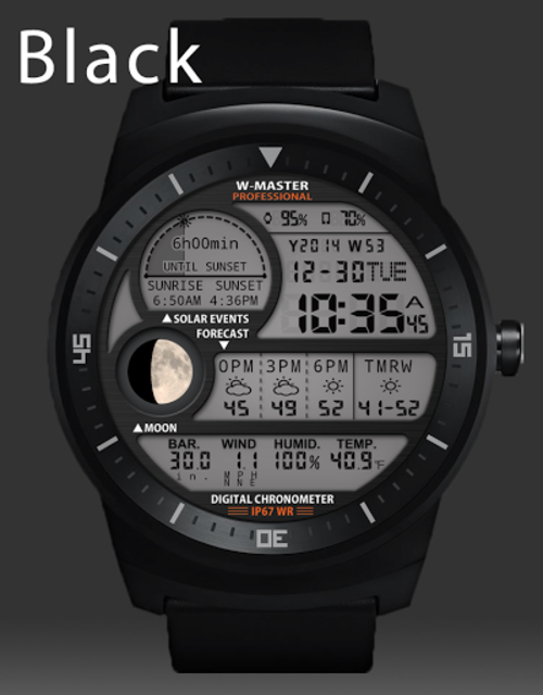 F04 WatchFace for Android Wear Smart Watch screenshot 31