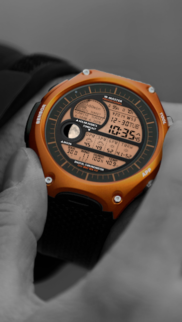 F04 WatchFace for Android Wear Smart Watch screenshot 2