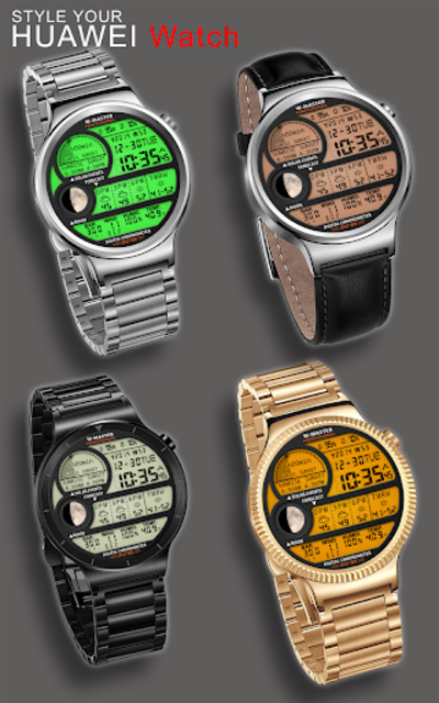 F04 WatchFace for Android Wear Smart Watch screenshot 3