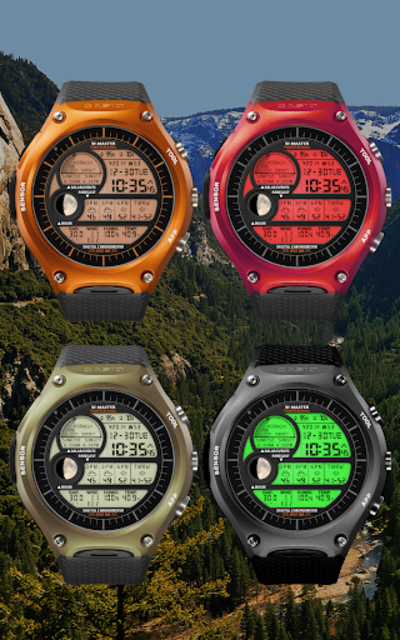 F04 WatchFace for Android Wear Smart Watch screenshot 9