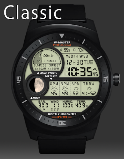 F04 WatchFace for Android Wear Smart Watch screenshot 14