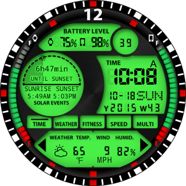 S01 WatchFace for Android Wear screenshot 29