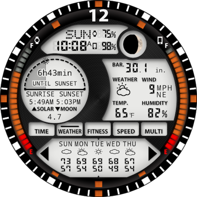 S01 WatchFace for Android Wear screenshot 30
