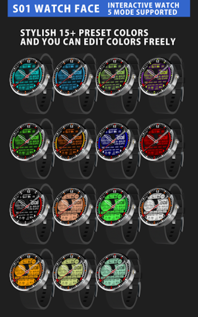 S01 WatchFace for Android Wear screenshot 2