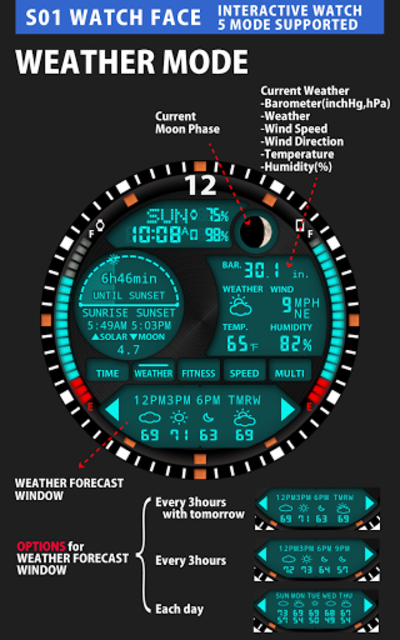 S01 WatchFace for Android Wear screenshot 4