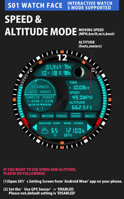 S01 WatchFace for Android Wear screenshot 6