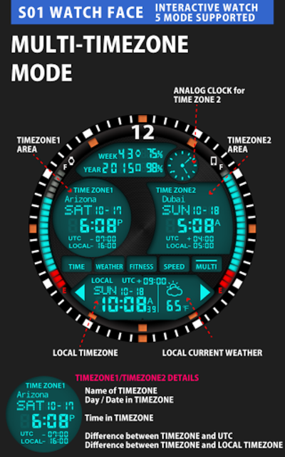 S01 WatchFace for Android Wear screenshot 7