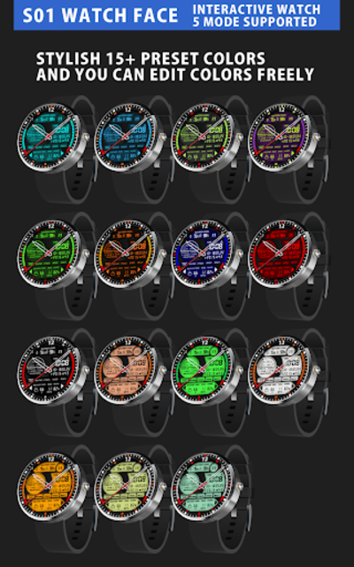 S01 WatchFace for Android Wear screenshot 9