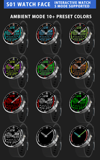 S01 WatchFace for Android Wear screenshot 10