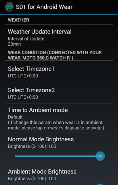 S01 WatchFace for Android Wear screenshot 11