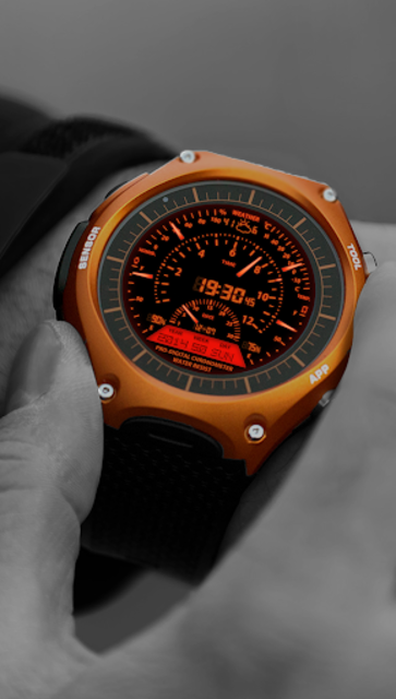 V06 WatchFace for Android Wear Smart Watch screenshot 3