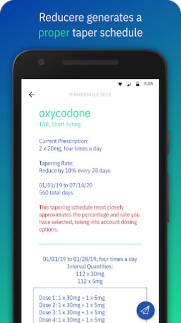 Reducere - Opioid Tapering Schedules screenshot 7
